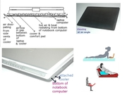 Attachable Laptop Cooler & Comfortpad - World's First