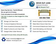 Household Furniture & Junk Removal - Home,  Estate,  Rental,  Storage