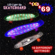 Led Skateboard Ten Led Light Settings